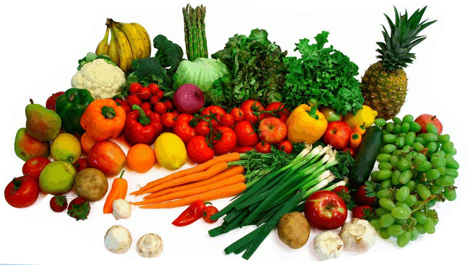 Сырые овощи и фрукты при анемии