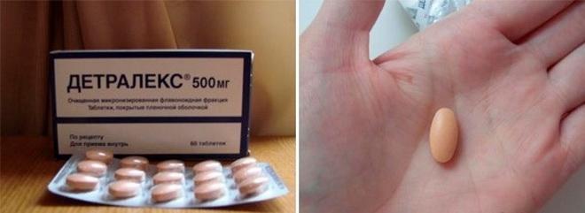 Применение таблеток Детралекс
